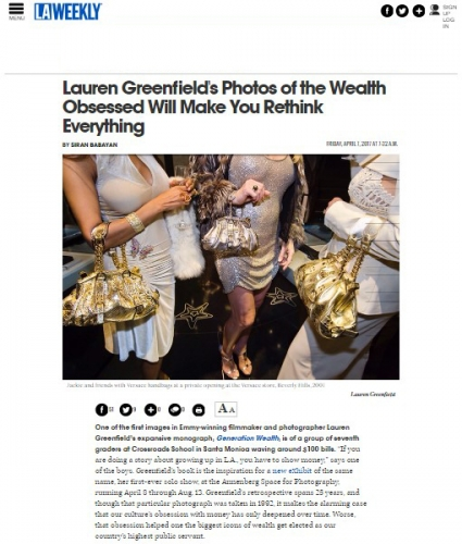 Lauren Greenfield's Photos of the Wealth Obsessed Will Make you Rethink Everything - LA Weekly