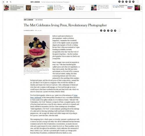 The Met Celebrates Irving Penn, Revolutionary Photographer - New York Times
