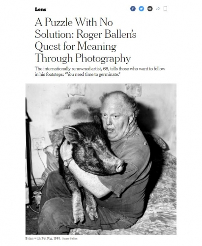 Roger Ballen - Ballenesque: New York Times - A Puzzle With No Solution: Roger Ballen's Quest for Meaning Through Photography