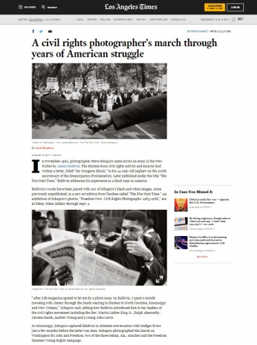 Steve Schapiro - A Civil Rights Photographer's March Through Year's of American Struggle - LA Times