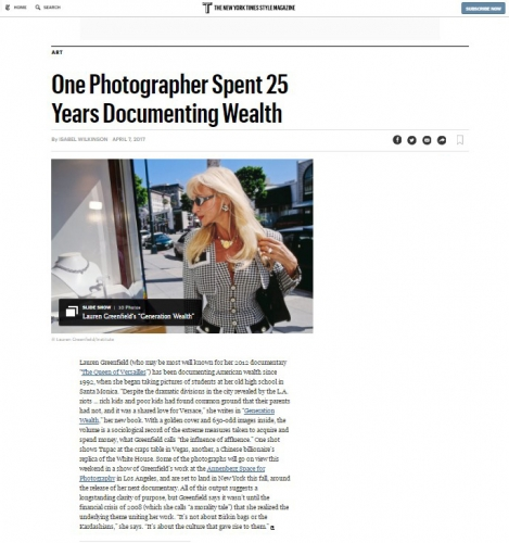 Lauren Greenfield - One Photographer Spent 25 Years Documenting Wealth - New York Times