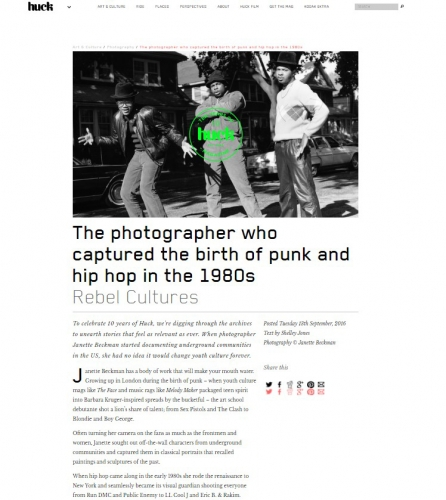 Janette Beckman - The Photographer Who Captured the Birth of Punk and Hip Hop in the 1980s