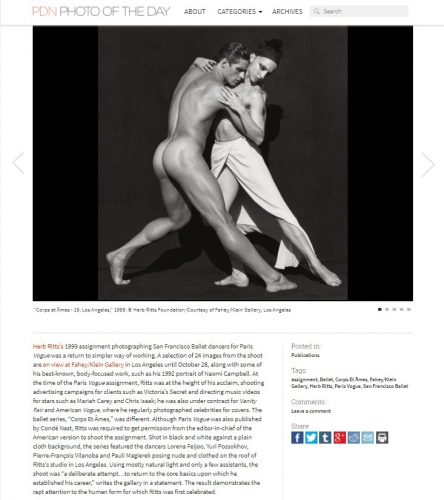 Rare Herb Ritts Photographs - PDN Photo of the Day