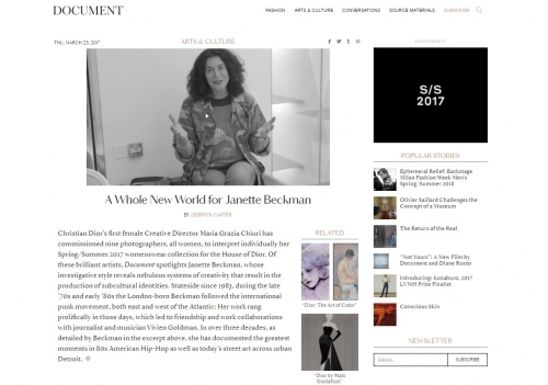 A Whole New World for Janette Beckman - Document