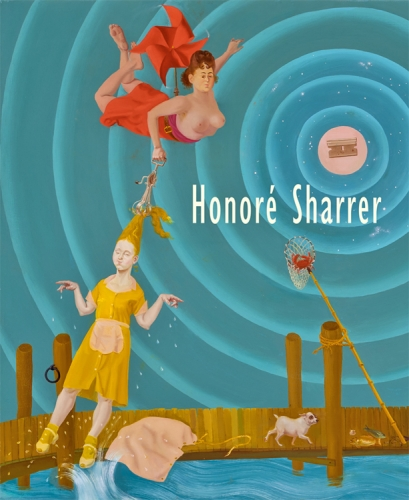 """image of the cover to exhibition catalogue for Honore Sharrer, """"Claws Sheathed in Velvet"""""""