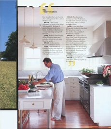 Eberhard cooking in our farmhouse kitchen