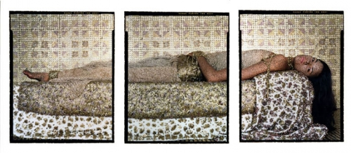 Lalla Essaydi, Bullets Revisited #3, 2012, three chromogenic prints.