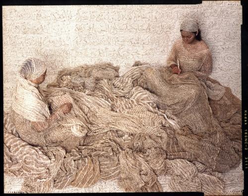 Les Femmes du Maroc: Harem Women Writing, 2008, chromogenic print