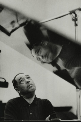 Gordon Parks, Duke Ellington Listening to Playback, Los Angeles, California, 1960, gelatin silver print