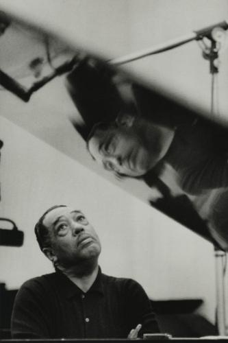 Gordon Parks, Duke Ellington Listening to Playback, Los Angeles, California, 1960, gelatin silver print