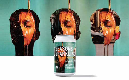 Basil Kincaid and Kennedy Yanko design cans for Seasons Sparkling