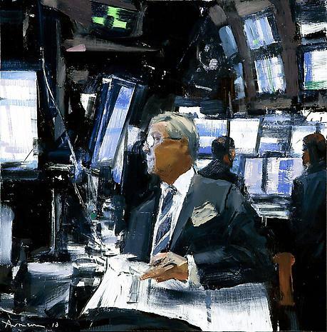 Ben Aronson's Wall Street Series Featured in Art Aesthetics Magazine