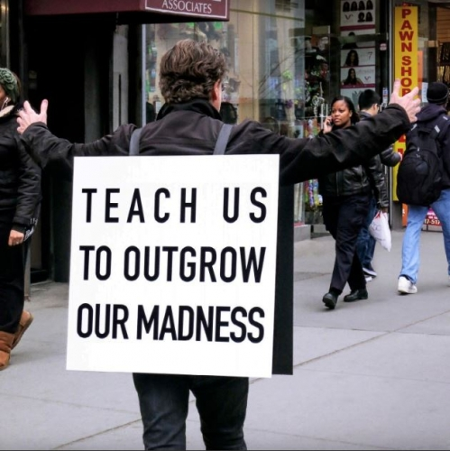 Alfredo Jaar, Teach Us To Outgrow Our Madness, 2014  Public performance
