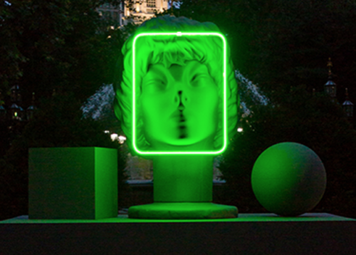 AMANDA ROSS-HO The Character and Shape of Illuminated Things (Facial Recognition) 2015