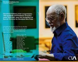 Julian Stanczak recipient of the 2015 Cleveland Arts Prize