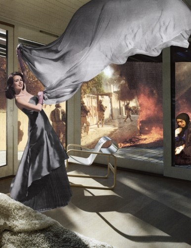 MARTHA ROSLER The Gray Drape, from the series House Beautiful: Bringing the War Home, New Series 2008