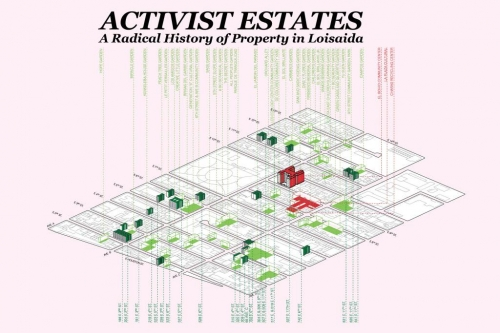 Work from Jade Doskow up in Activist Estates: A Radical History of Property in Loisaida exhibit