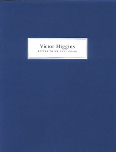 Victor Higgins: Letter to Mr. Paul Grafe