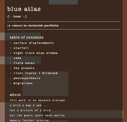 "January 2021: Kathy McTavish ""blue atlas"""