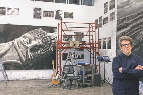 Robert Longo in his studio
