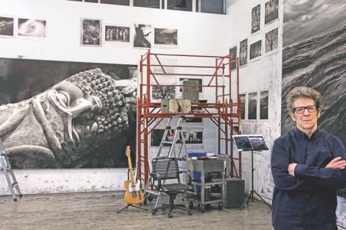 Robert Longo in his studio