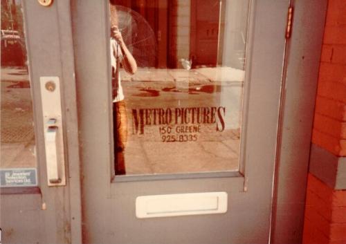 Storefront door of Metro Pictures original location, 150 Greene Street