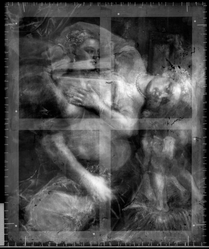 X-Ray of Titian's Venus with a Mirror, c. 1555.
