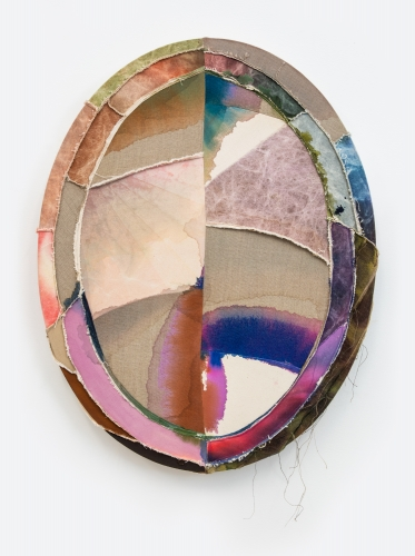 """""""The Ghost of Paintings Past, Oval, 30 inch, February, 2021,"""" 2021"""