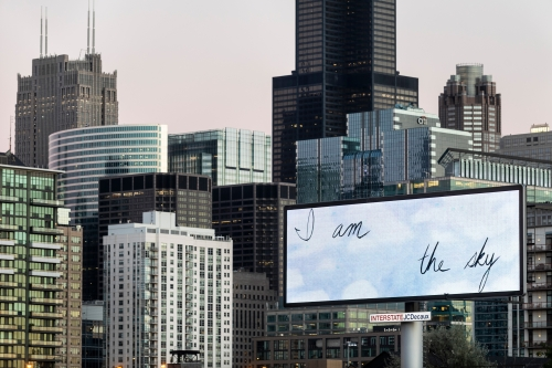 Installation view at OVERRIDE: A Billboard Project for EXPO Chicago, 2018