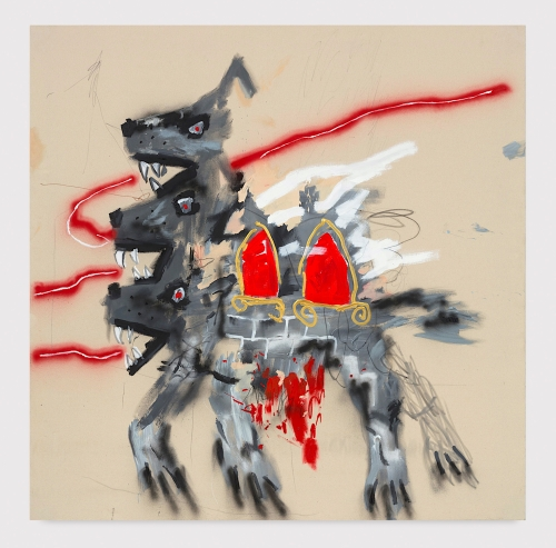 """Robert Nava, """"Beware of Wolves, Two Rooms for Rent,"""" 2020"""