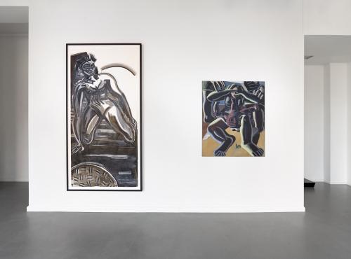 WOMEN ON WOMEN, installation view, COLLABORATIONS, Copenhagen, Denmark, 2021.