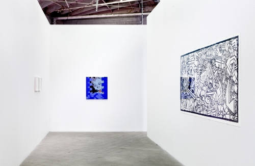 Installation view, Cogwheels Carved in Wood, 2014.