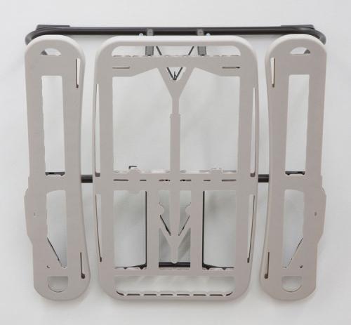 "Anne Libby, ""Winged Victory (Beige HDPE)"", 2015, high-density polyethylene, powder coated steel"