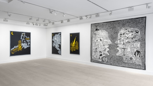 Night and Snow / Fragments: Contemporary Still Life, installation view at Gazelli Art House, London, 2019.
