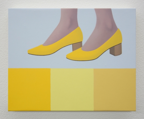 """Ridley Howard, """"New Shoes in Yellow,"""" 2019"""