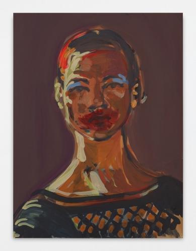 """Makeup (smeared lipstick),"" 2017"