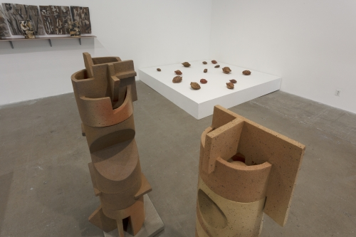 Sample Platter - Contemporary Ceramic, installation view, Guggenheim Gallery at Chapman University, 2020.