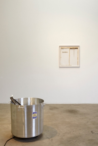32 Leaves / I Don't / The Face of Smoke, installation view at Night Gallery, 2014.