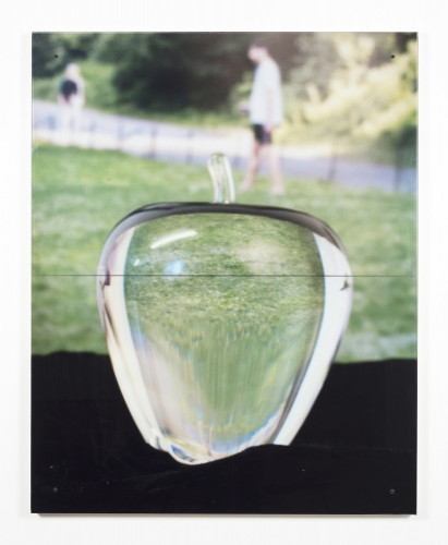 """Glass Apple,"" 2018. Image courtesy of Mary Mary Gallery."