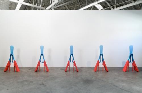 """Erik Frydenborg, """"Them,"""" installation view in Trains, 2014."""