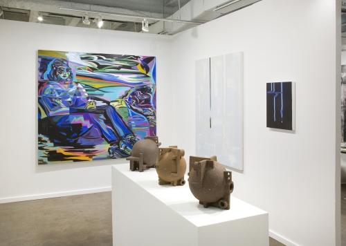 Installation view at Dallas Art Fair, 2019.
