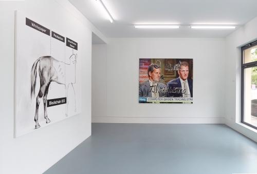 Crypto Rich, installation view at Nagel Draxler Kabinett, Berlin, 2018.