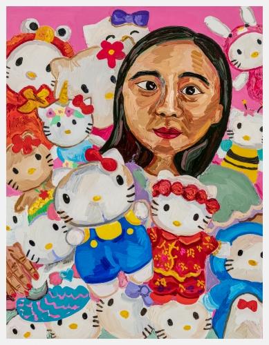 """""""Carmen & Her Hello Kitties,"""" 2021"""