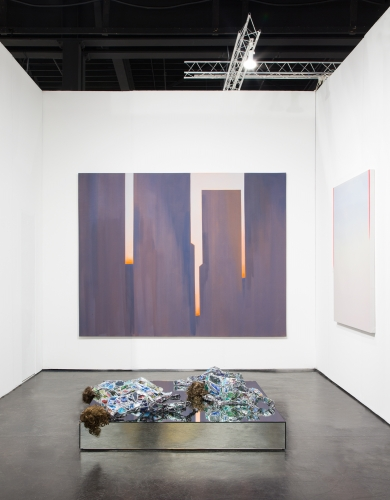 Installation view at NADA Miami, Ice Palace Studios, 2019, alongside Wanda Koop, Mira Dancy, and Robert Nava.