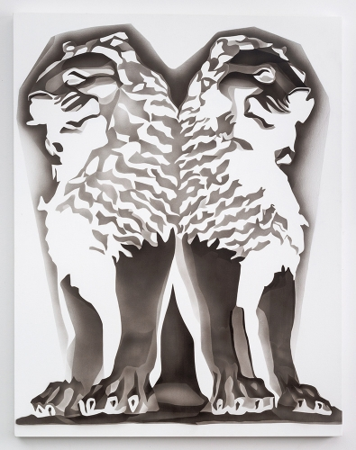 "Tracy Molis, ""Untitled (Lions),"" 2015."