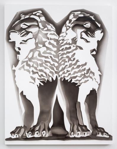 "Tracy Molis, ""Untitled (Lions),"" 2015."