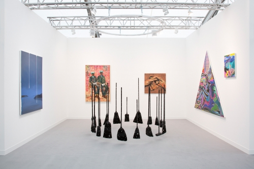 Night Gallery installation view at Frieze London, 2018.