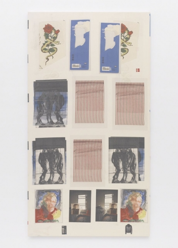 """Augustus Thompson, """"Image Accountability Act (Three Shades, Ticking, Can Opener),"""" 2014"""