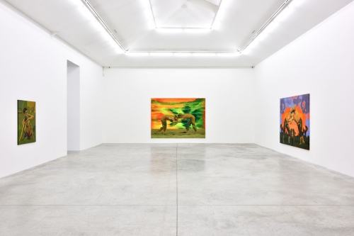 I Am Crying Because You Are Not Crying, installation view at Almine Rech Gallery Paris, 2018.