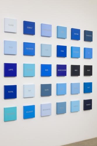 "Cynthia Daignault, ""Blues,"" installation view, 2018."